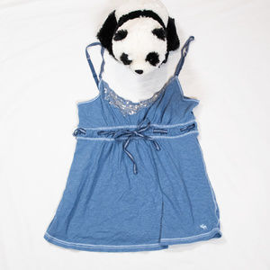 Blue sequined Abercrombie camisole